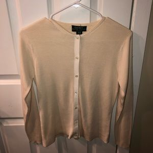 ralph lauren button sweater